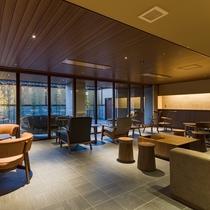 談話ラウンジ 「山梨の魅力を伝える宿」が当館のビジョン