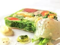 有機野菜と魚介のテリーヌ