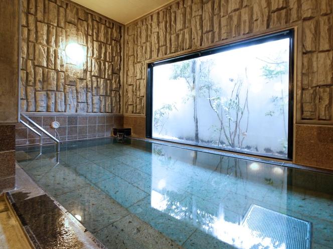■ラジウム人工温泉「旅人の湯」■ 無色無臭のお湯はどなたにも好き嫌いなくお楽しみいただけます。