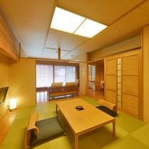 和室10帖とリビングがある和洋室タイプ【半露天風呂付客室・武蔵野】