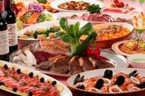 季節毎に旬のごちそうを集めたディナーブッフェ