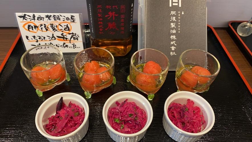 大津の老舗油屋肥後製油のオイル「弁蔵」を使った健康サラダ