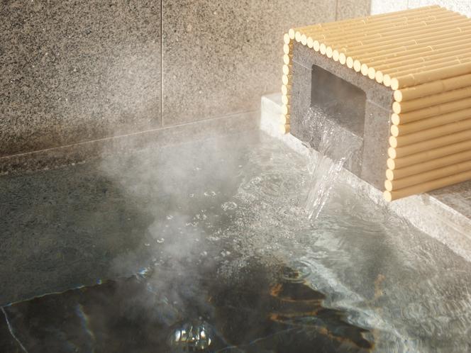 2階 大浴場 体にいい事いっぱいのブラックシリカの湯