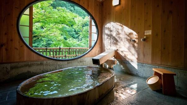 川側 源泉掛流し露天付貴賓室「竹や舞の間」ツインベッド付