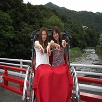 【カップルプラン特典】2人乗り人力車で、記念写真♪旅の良い想い出に!