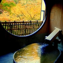 【秋】露天風呂付き 貴賓室 竹や舞の間からの眺め