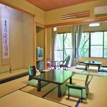 スタンダード客室Aタイプ / 川側12.5畳+4.5畳。6名様迄ご滞在頂ける客室はファミリーに人気!
