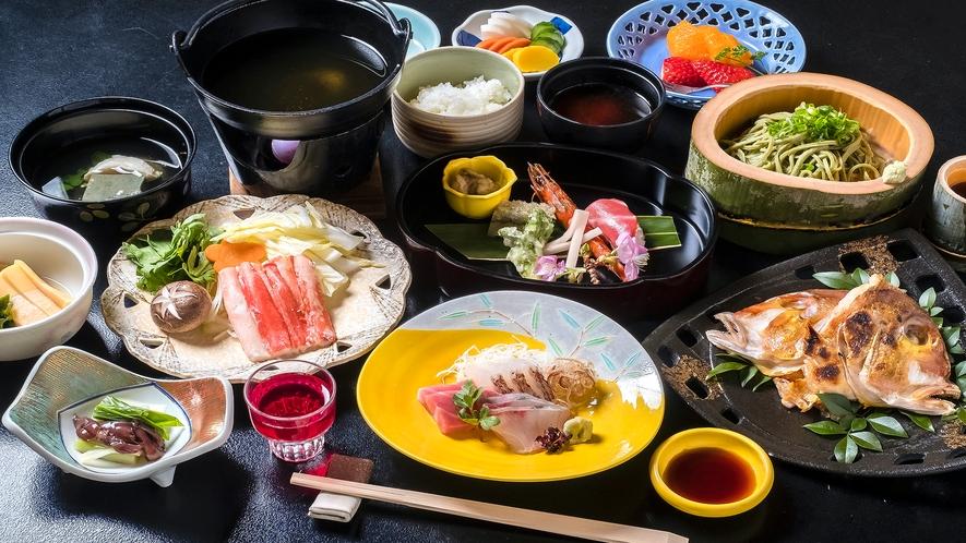 【夕食】季節のおまかせ会席一例