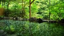 【新緑の頃】大浴場露天風呂