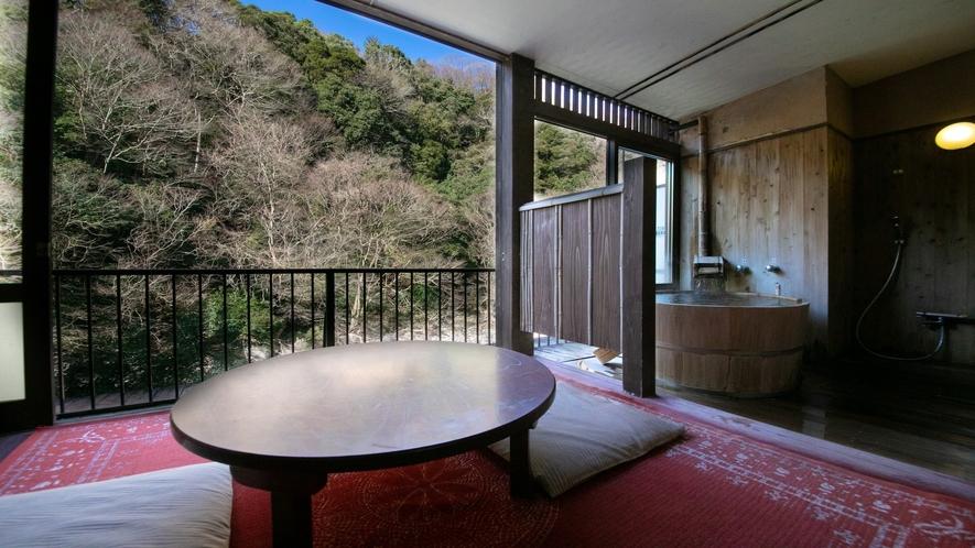 【8畳+4.5畳露天風呂付客室】山さびの間