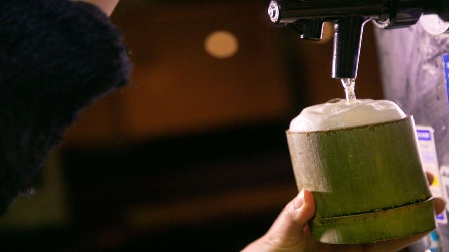【湯上りドリンクサービス】毎日16時~18時の間、ラウンジにて1杯無料サービスしております