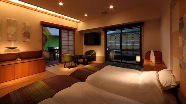 露天風呂付客室「翠」山側ツインルーム(2名定員)