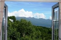 お部屋の窓からの眺望。夏