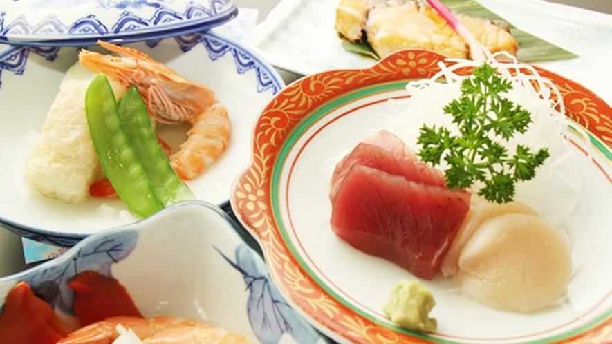 *【通常のご夕食一例】自家栽培の食材を使ったボリューム満点な手作り料理