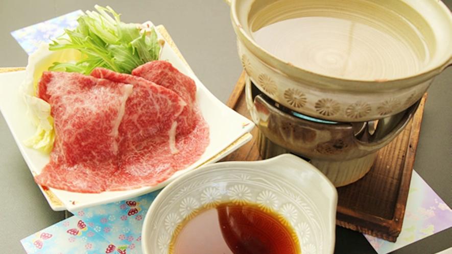 *【雫石牛しゃぶしゃぶ一例】とても柔らかく、さっぱりと肉本来の旨みを味わえます。