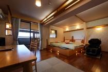 お部屋の一例☆新渚感「咲saki」☆華の南房総をイメージした明るいハリウッド・ツインルームです☆