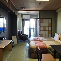 2017年夏☆新岬感【和室 ツイン】小ぶりな露天風呂&マッサージチェア付き