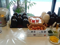 朝食の一例 ビュッフェスタイル