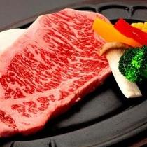 150gの豊後牛ステーキ