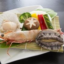 【楽天限定】【贅沢海鮮焼き】大海老・ホタテ『海鮮会席』【貸切露天風呂無料】