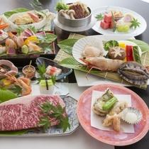 【豊食三昧】大海老・ホタテ・お肉はA4ランク以上九州黒毛和牛ステーキなど贅沢食材と癒しの湯