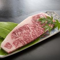 【A4ランク以上九州黒毛和牛ステーキ】料理人が焼き上げる絶品ステーキと会席料理