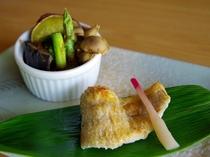 のど黒と秋の野菜の味噌ソース焼き