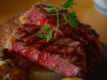 国産牛と春筍の和風ステーキ