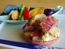 国産牛フィレ肉と松茸焼き