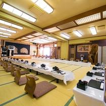 【内観】大宴会場にはカラオケの設備もございます。お気軽にご相談ください