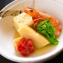 【料理一例】東丹沢と相模湾に近い当館では、季節ごとに山と海の幸をご堪能いただけます
