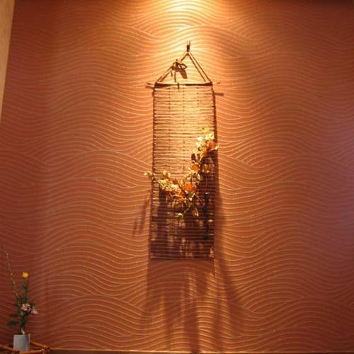 新館食事室壁