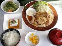 【夕食プラン】やんばる島豚の生姜炒め定食
