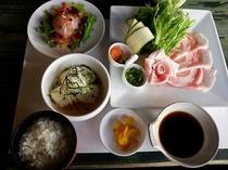 【夕食プラン】やんばる島豚しゃぶしゃぶ定食