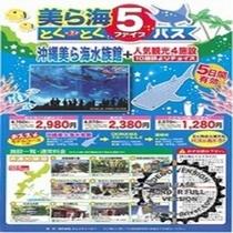 大人2,980円で様々な観光施設を楽しんでいただけます。