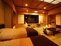 ベッドのある和室
