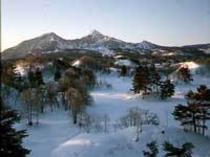 雪景色 夕景