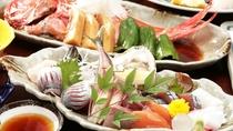 新鮮な魚介類が満載のお料理一例♪仕入れにより内容が変わる場合もあります