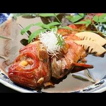 豪華舟盛付きプラン 金目鯛の煮付け