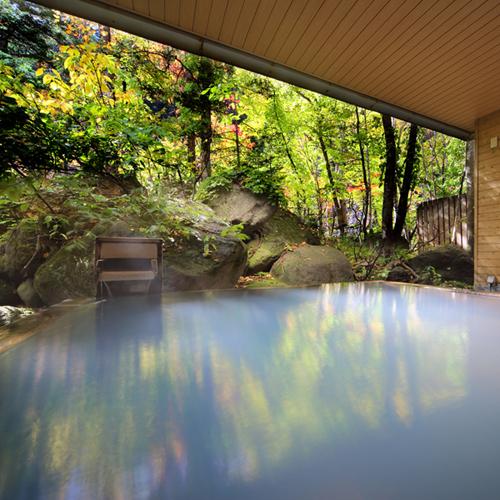 ■大自然の湯「鳥の声」 露天風呂(秋)