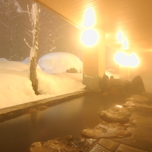 ■大自然の湯「川の囁き」 露天風呂(冬)