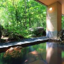 ■大自然の湯「川の囁き」 露天風呂(夏)