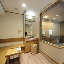 ■貸切風呂 脱衣スペース