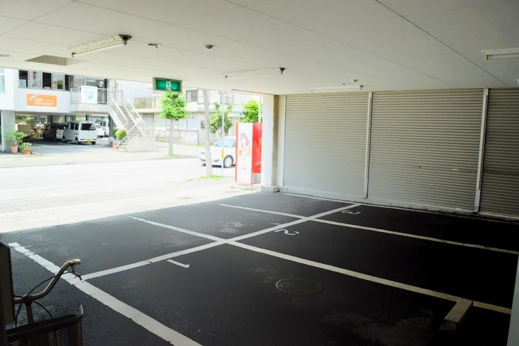 駐車場喫茶前