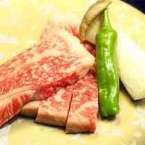 *[夕食一例]人気の山形牛ステーキ。一度は食べていただきたい地元産の上質なお肉♪