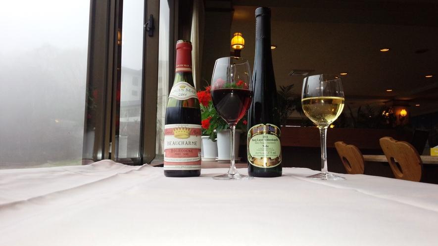 *食事に合うワインもご用意しております。お気軽にお尋ねください。