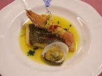魚料理 マトウ鯛&手長海老