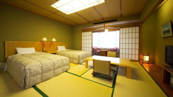 【禁煙】【和風ツインベッド】最上階または5階 和室12.5畳