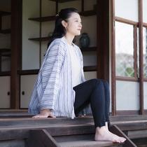 【haori】筑後の伝統と歴史を誇る「宮田織物」の、中わた無し袢天。