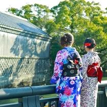 新緑の時期も魅力的な柳川。古都の雰囲気とともにのんびりとお過ごしください。